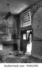 Abandoned and decaying Post Office in Gary, Indiana.
