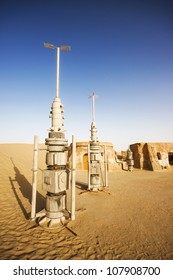 "Abandoned decoration from film ""Star Wars"" (Tatooine planet), Sahara desert, Tunisia"
