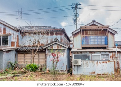 Abandoned and derelict houses, Wajima, Ishikawa Prefecture, Western Japan.