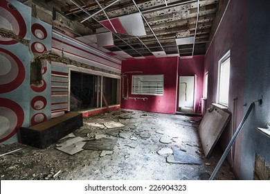 Abandoned and devastated a recording studio