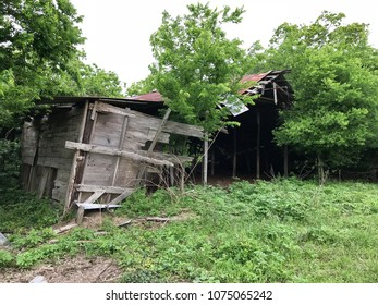 Abandoned dilapidated building