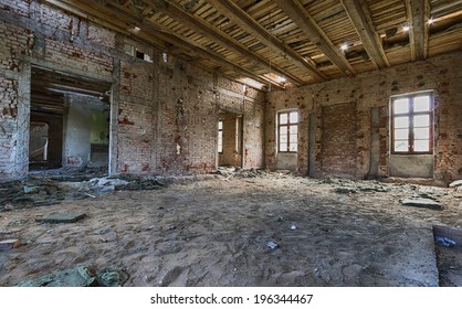 Abandoned, dilapidated palace in Poland