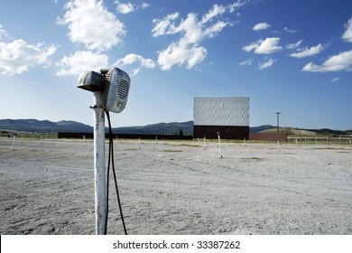 An abandoned Drive-In Movie Theater