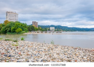 Abandoned and empty blocks in Sokhumi, Abkhazia