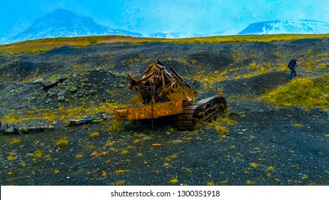 Abandoned Excavator, Iceland