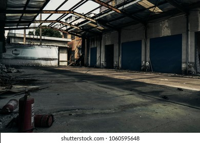 Abandoned factories in small towns , with an feeling of horror films.