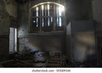 abandoned factory abandoned house