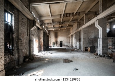 Abandoned factory, Industrial park, ruins