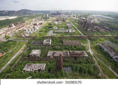 Abandoned factory, industrial works