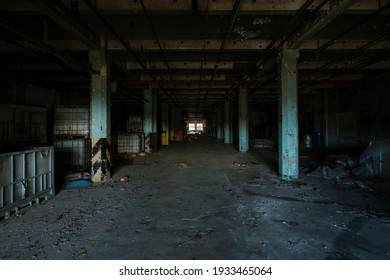 Abandoned Factory Interior and Exterior