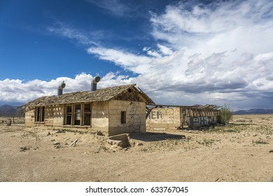 Abandoned Farm Building near Joshua Tree in the Mojave Desert, California