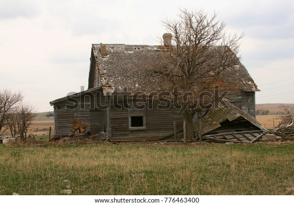 Abandoned Farm Homes Midwest Usa Stock Photo (Edit Now