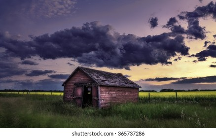 Abandoned Farm Out Building
