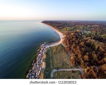 Abandoned fortifications at Baltic sea coast next to Liepaja, Latvia.