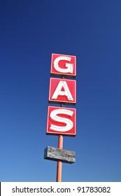 Abandoned Gas Station Sign