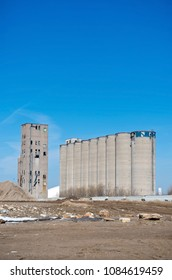 abandoned grain elevator and silos in industrial area of minneapolis minnesota hennepin county