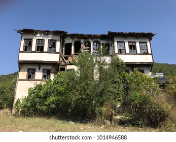 Abandoned Greek house in Burcun village near Yenisehir town, Bursa Province, Turkey