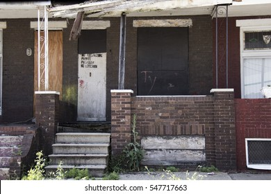 An abandoned home in Baltimore.