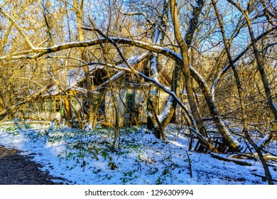 Abandoned home in Chernobyl Exclusion Zone, Ukraine