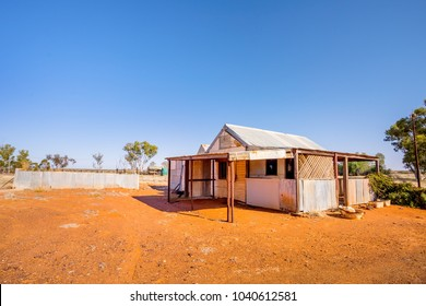 Abandoned home in the ghost town of Gwalia in the Western Australian goldfields near Kalgoorlie. Western Australia, Australia.