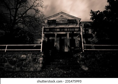 Abandoned horror house