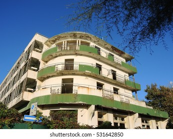 Abandoned hotel in Riccione, Emilia Romagna, Italy. Hotel was built in 1933