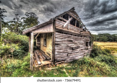 An abandoned house.