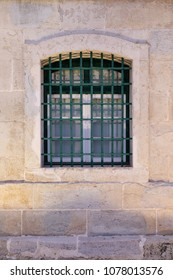 Abandoned house barred window