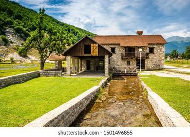 Abandoned house by natural springs Ali Pasha Izvori in Montenegro, Europe