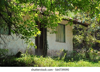 Abandoned house in the countryside