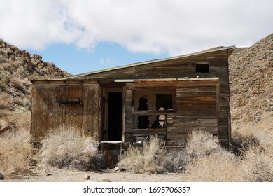An abandoned house in the high desert.