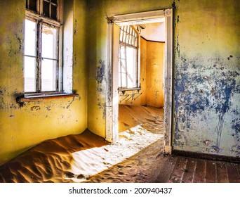 abandoned house in Namibia desert