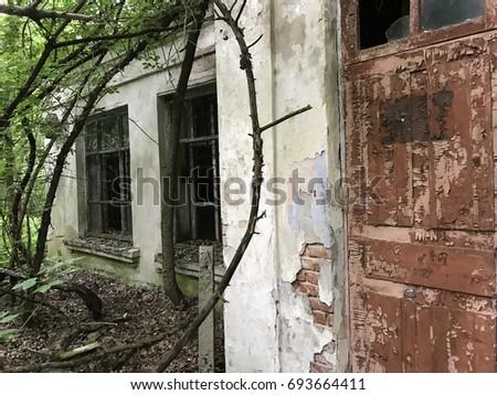 Abandoned House Near Chernobyl Ukraine Stock Photo (Edit Now