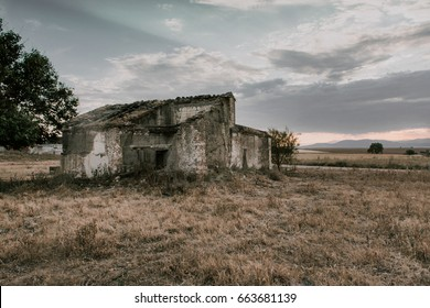 Abandoned house next to the Castle of Caudilla, in Toledo Spain