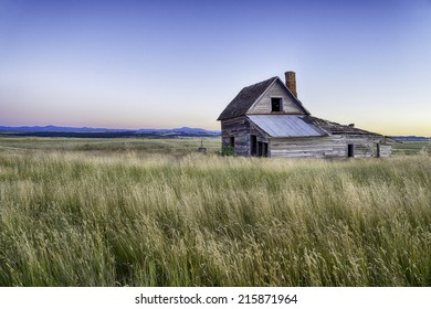 Abandoned house on South Dakota Landscape.