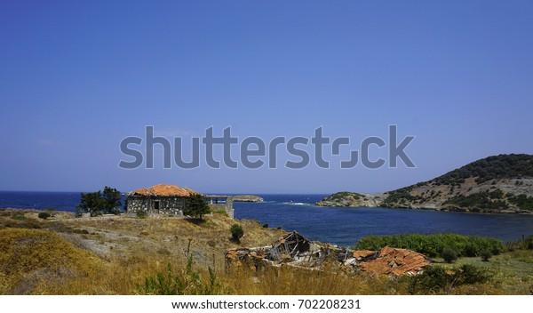 Abandoned house at  Phokaia (Foca), izmir, Turkey