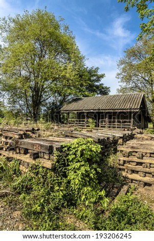 Abandoned House Pile Bolster Wood Near Stock Photo (Edit Now