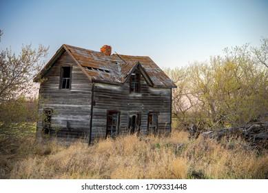 Abandoned house in Saskatchewan Canada