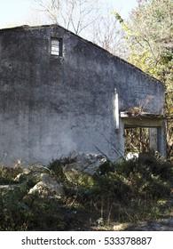 Abandoned house in secret garden