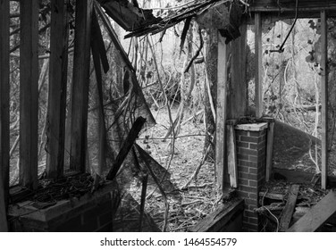 Abandoned house speaks of times gone by