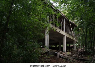 An abandoned house that is not finished yet,abandoned building.