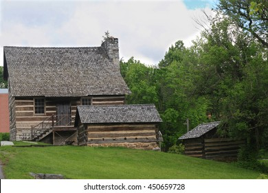 Abandoned houses of first settlers and early years miners in Lewisburg West Virginia USA.