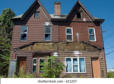 Abandoned housing.