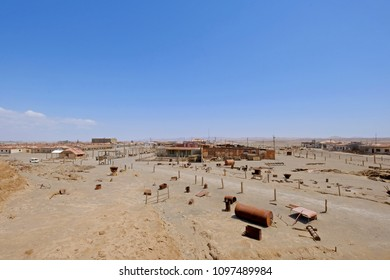 Abandoned Humberstone near Iquique, northern Chile, South America. This abandoned nitrate town was extremely important for the early economy of Chile.
