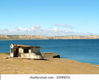 Abandoned hut on Peninsula Valdes, Argentina