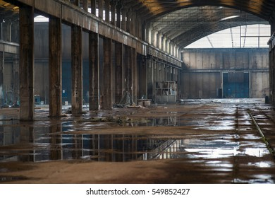 Abandoned industry hall