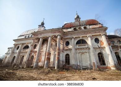 Abandoned Kazan Theotokos Church in Yaropolec, Russia