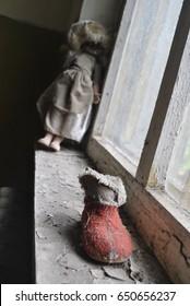 An abandoned kindergarten in the city of Pripyat in Ukraine.