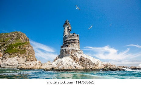 The abandoned lighthouse of Aniva on Sakhalin Island