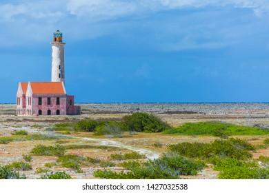 Abandoned lighthouse on Klein Curacao